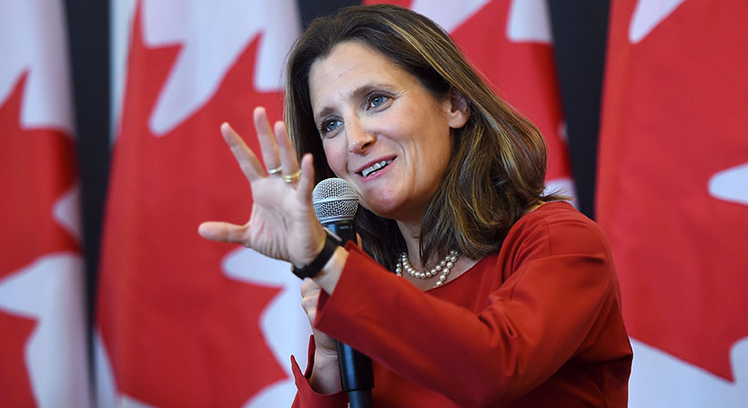 Canadian FM Chrystia Freeland