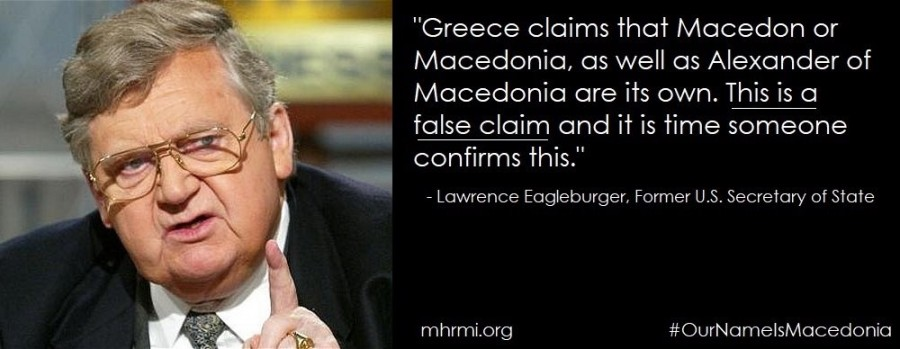 Eagleburger: Greece has no historic right to dispute over Macedonia's name