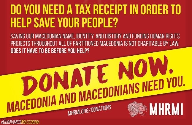 Macedonia Needs You. But Do You Need a Tax Receipt Before You Help?