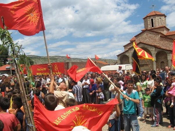 Macedonians in Albania rally for human rights