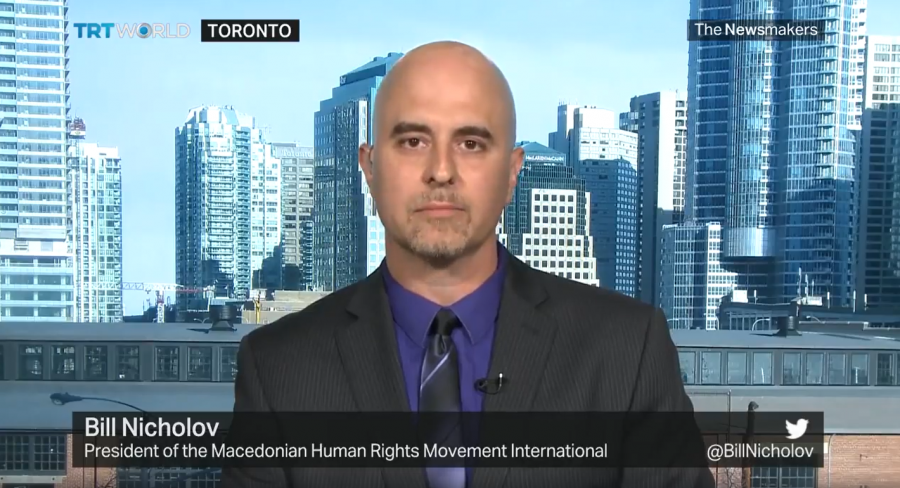 MHRMI President Bill Nicholov defends Macedonia's name on a TRT World television panel discussion (VIDEO)